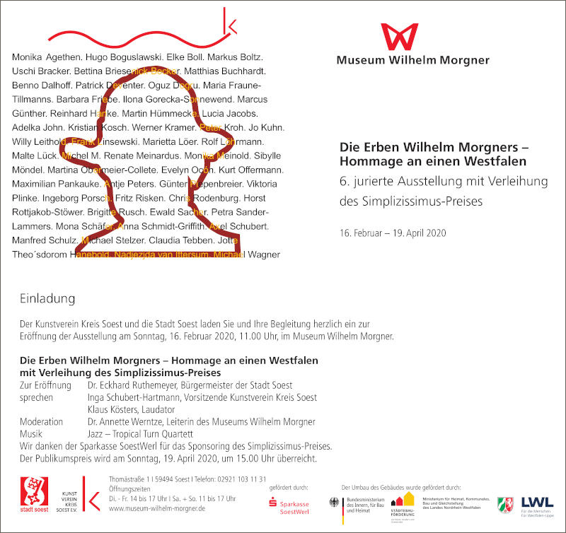 Eventbild für Hugo Boguslawski /// Die Erben Wilhelm Morgners – Hommage an einen Westfalen /// Simplizissimus-Preis 2020