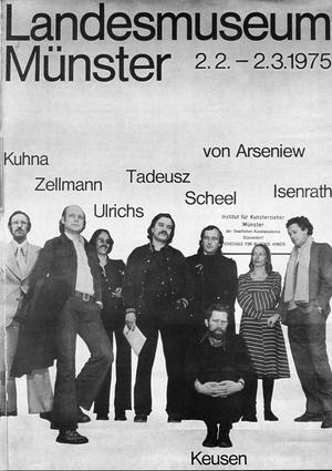 """Ausstellung """"8 Lehrer"""" im LWL Landesmuseum Münster, 1975"""