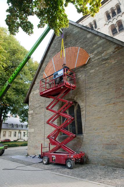 """Eventbild für """"... scheinen..."""" wird scheinen! /// Klasse Kooperative Strategien /// Einweihung Kunstwerk 950 Jahre St. Mauritz Kirche"""