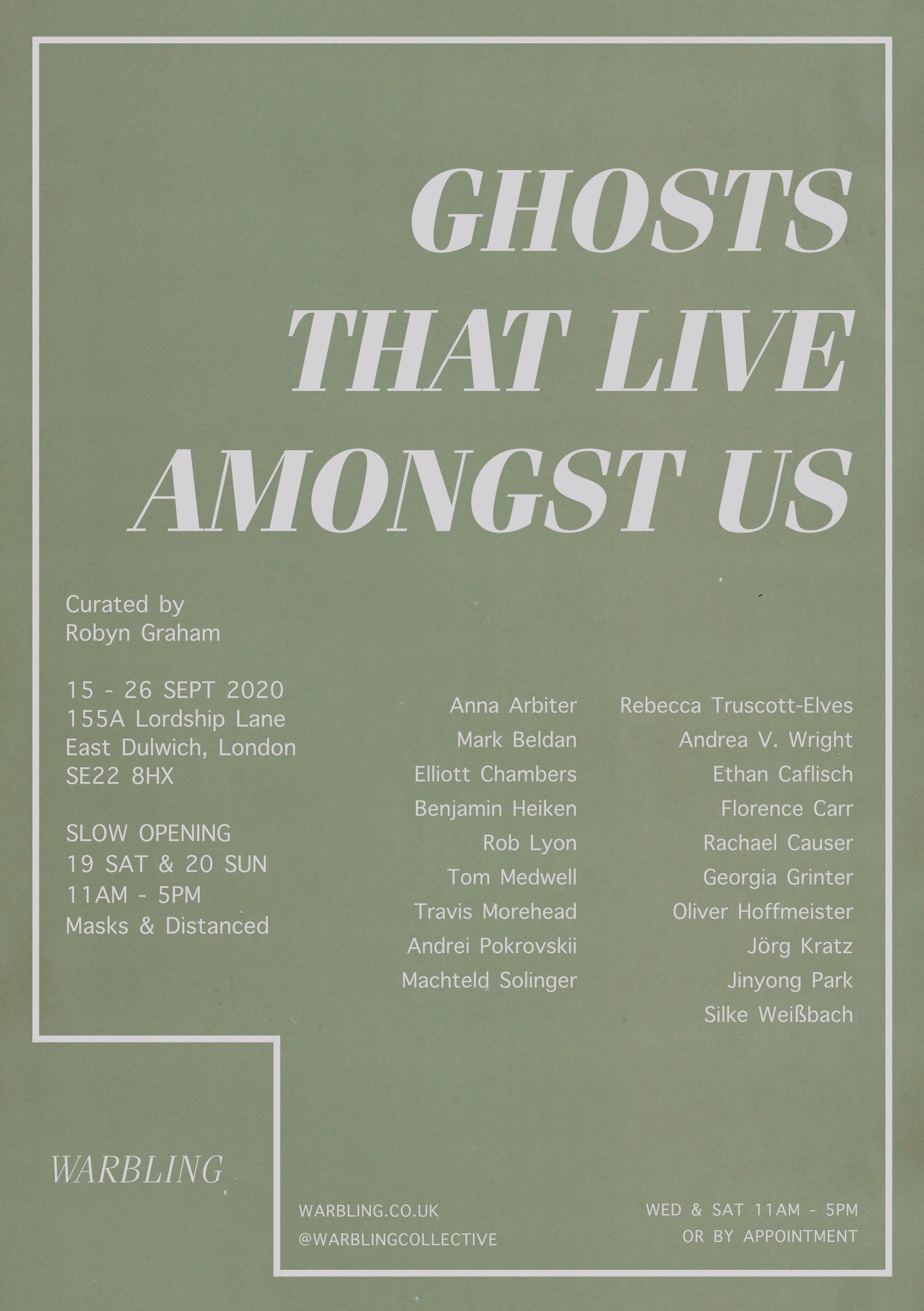 Eventbild für Jörg Kratz ///  GHOSTS THAT LIVE AMONGST US