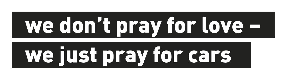 Eventbild für Jonas Hohnke /// we don't pray for love – we just pray for cars