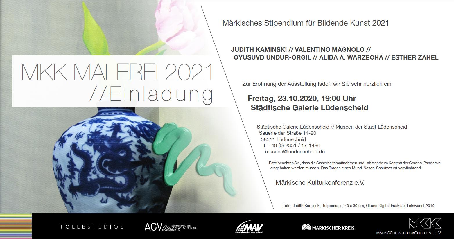 Eventbild für Judith Kaminski, Valentino Magnolo u.a. /// MKK Malerei