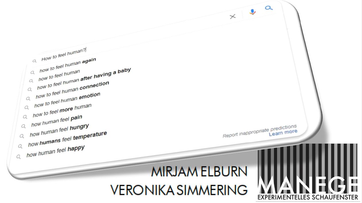 Eventbild für Veronika Simmering, Mirjam Elburn /// How to feel human?
