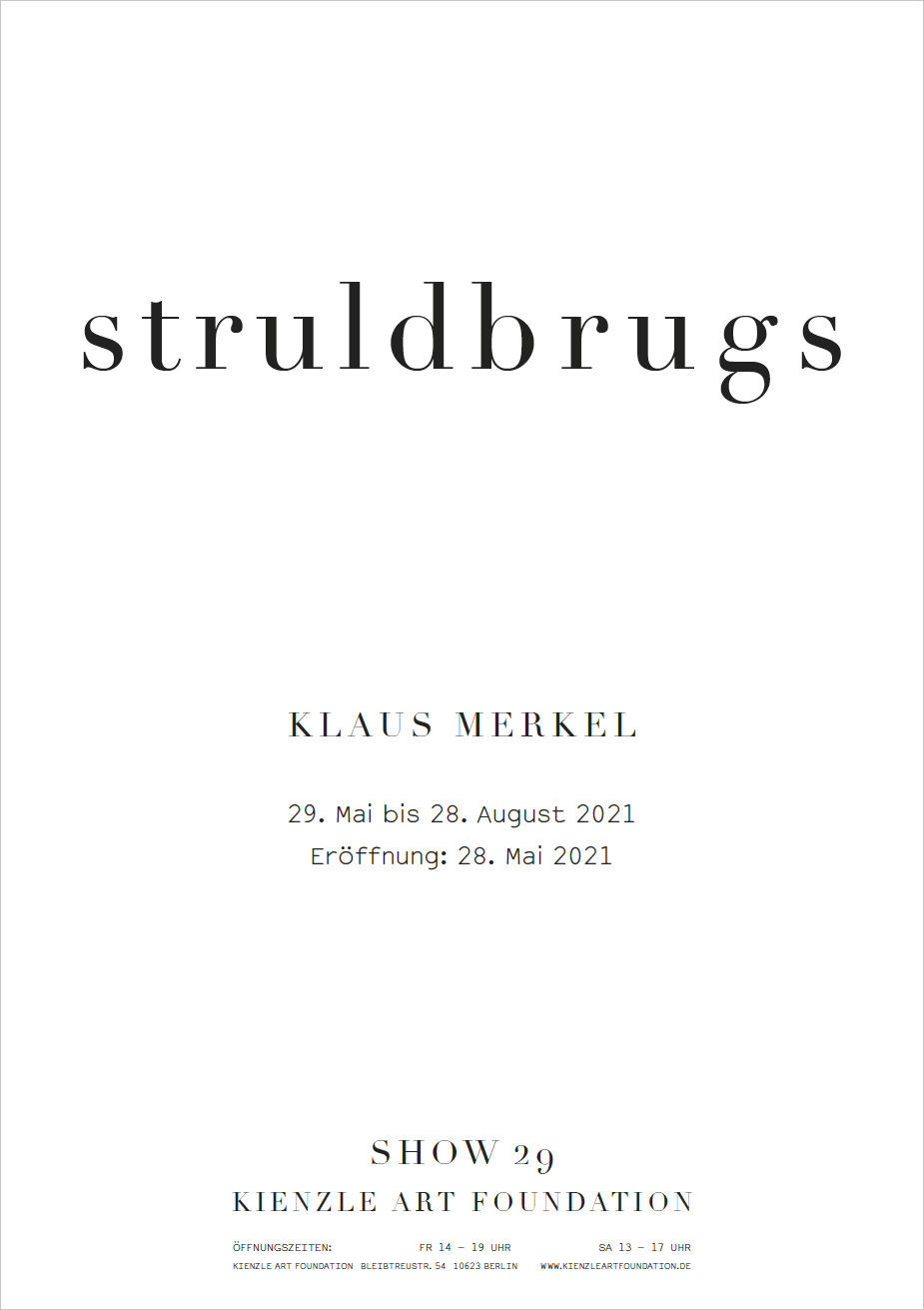 Eventbild für Klaus Merkel /// struldbrugs