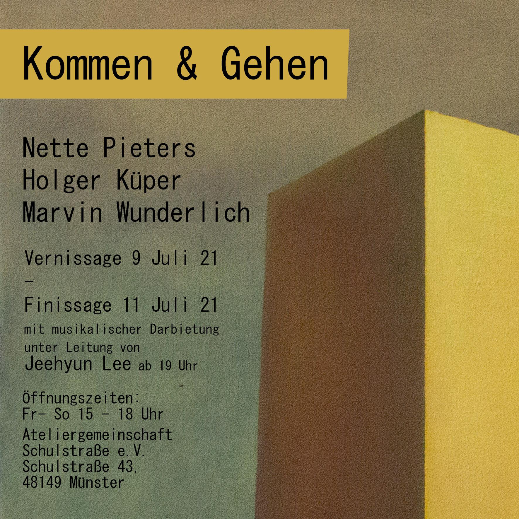 Eventbild für Nette Pieters, Holger Küper & Marvin Wunderlich /// Kommen & Gehen