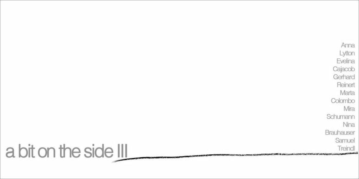 Eventbild für Samuel Treindl u.a. /// a bit on the side III – Zeichnung auf Seitenwegen