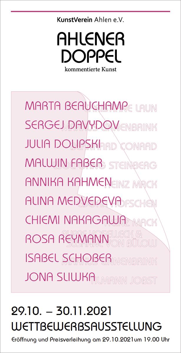 Eventbild für Isabel Schober, Jona Sliwka u.a. /// Ahlener Doppel – kommentierte Kunst