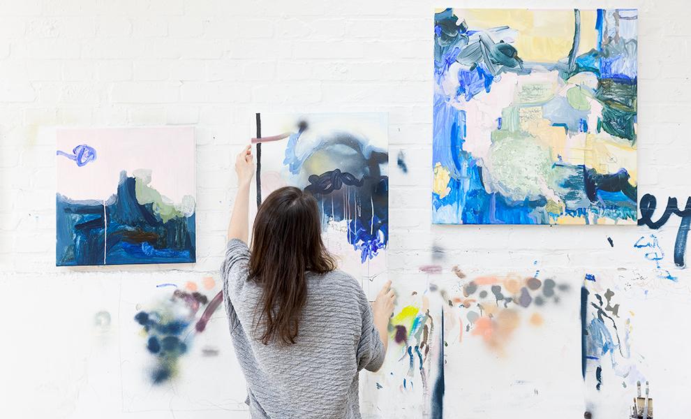 Szene in einem Atelier