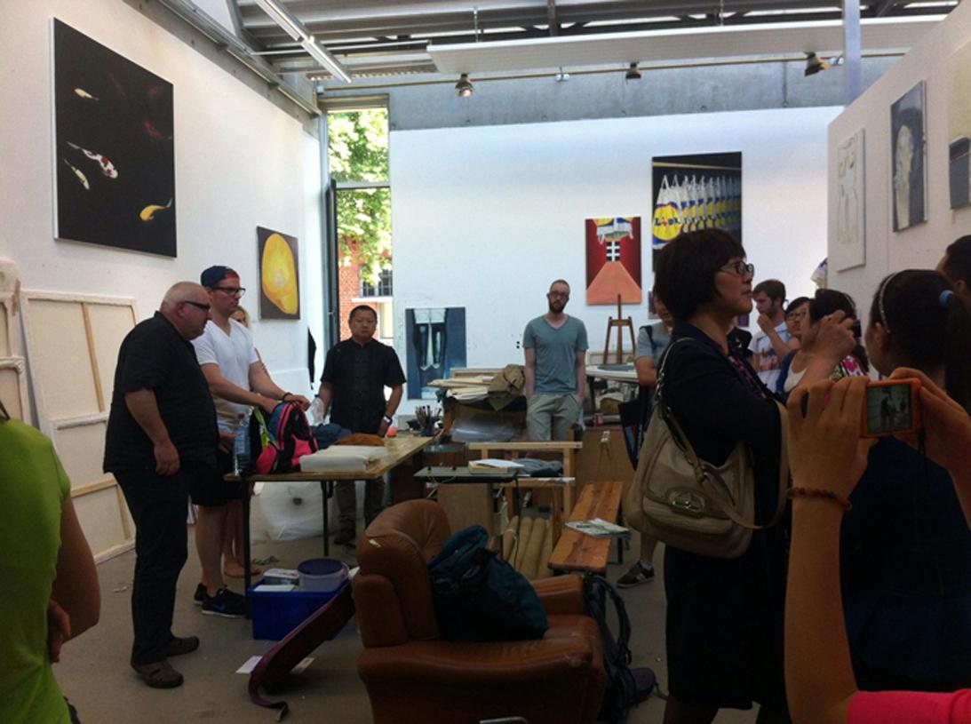 Eventbild für PRESSEMITTEILUNG // Chinesische Bildungsdelegation aus Wuhan zu Gast in der Kunstakademie Münster