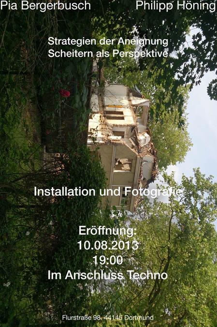 Eventbild für Pia Bergerbusch und Philipp Höning // Strategien der Anordnung / Scheitern als Perspektive