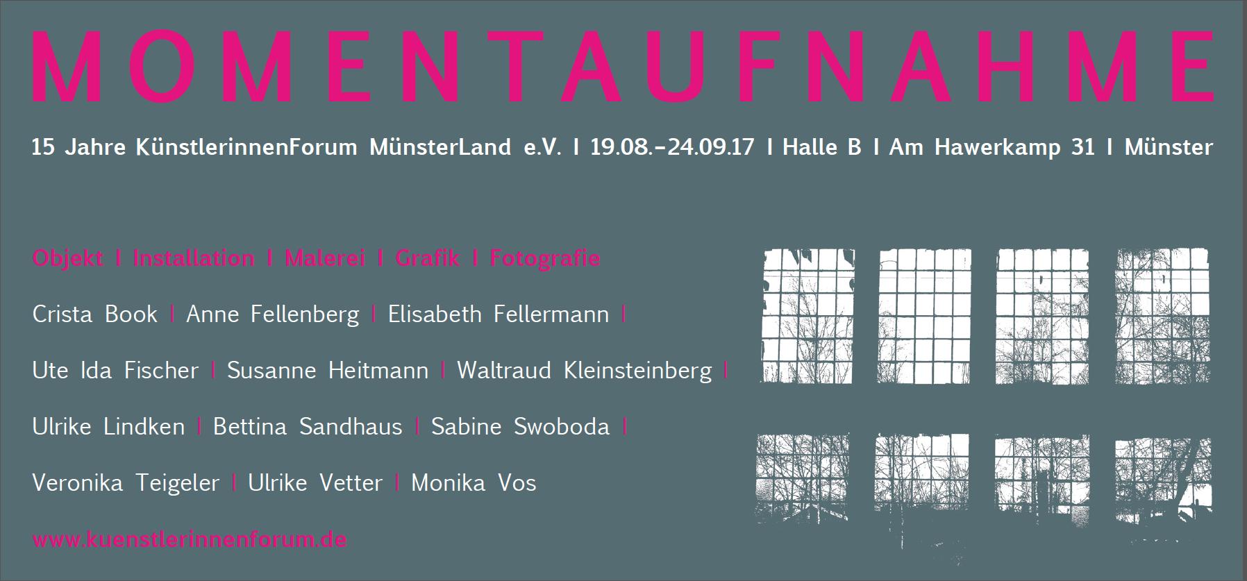 Eventbild für 15 Jahre KünstlerinnenForum MünsterLand e.V. // Momentaufnahmen