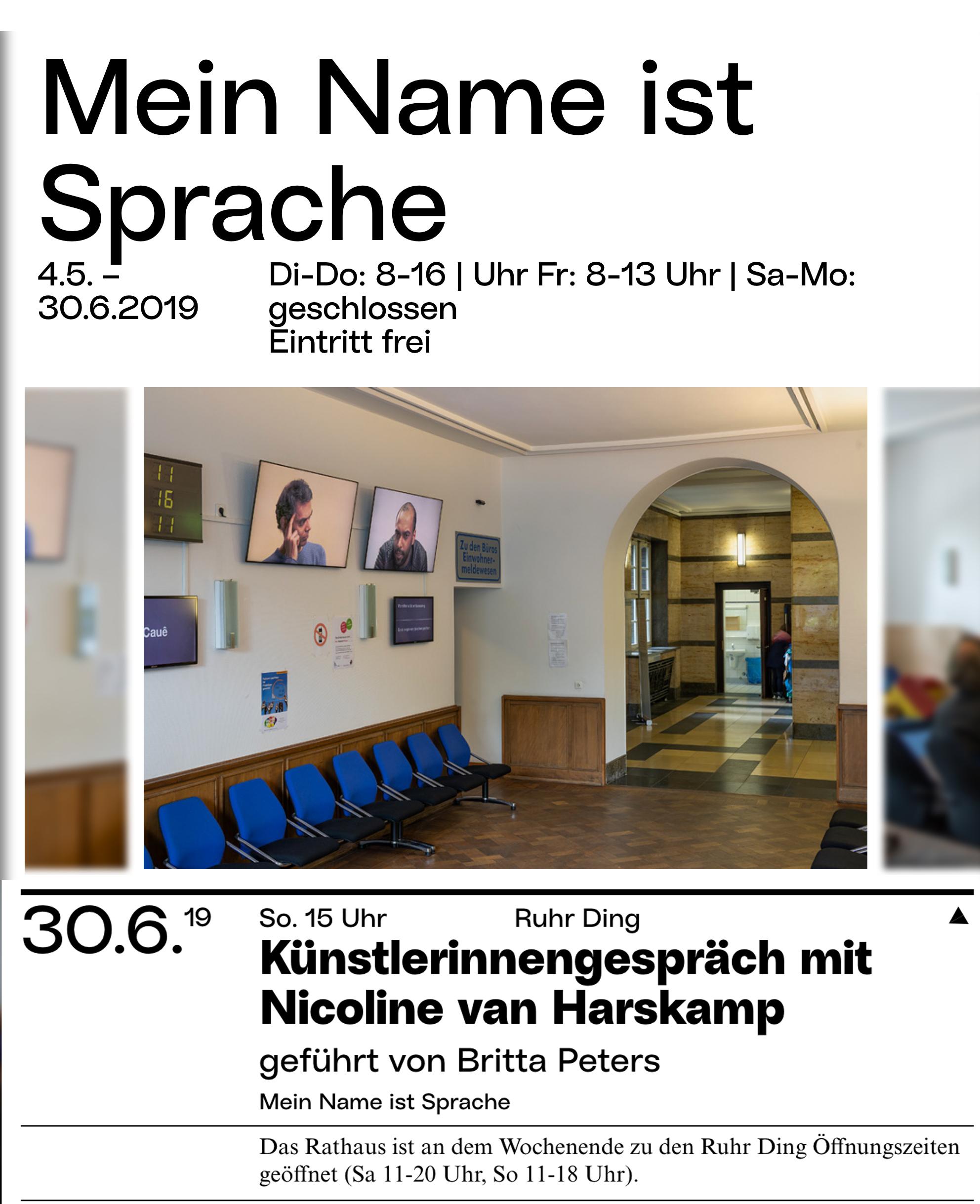 Eventbild für Nicoline van Harskamp /// Mein Name ist Sprache /// KünstlerInnengespräch